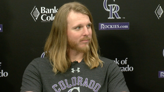 Photos: Rockies pitcher Jon Gray chops off his hair for a