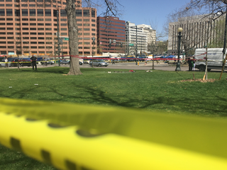 Man sets self on fire in Civic Center Park