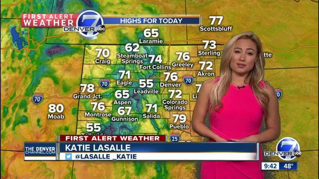 A warm- partly sunny Sunday-