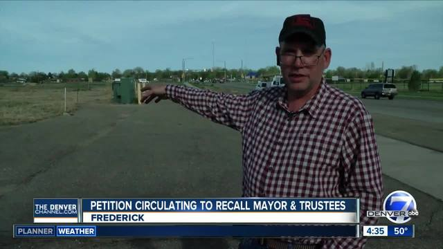 Petition to recall Frederick mayor- trustees gains more than needed signatures