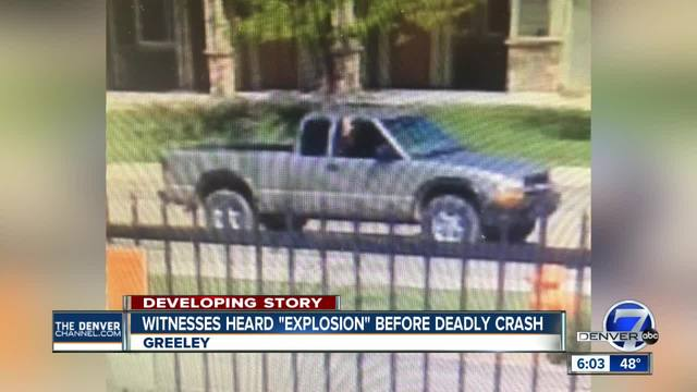 Police investigating deadly Greeley crash as homicide- suspicious pickup…