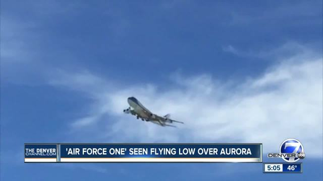 Another -Mystery Plane- identified- -Air Force One- seen flying low over Aurora