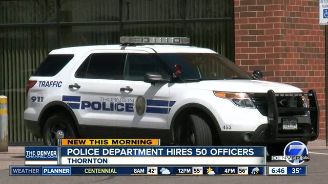 Thornton to undergo mass hiring of police officers