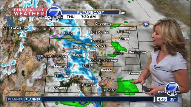 Cool temperatures- rain and then snow-