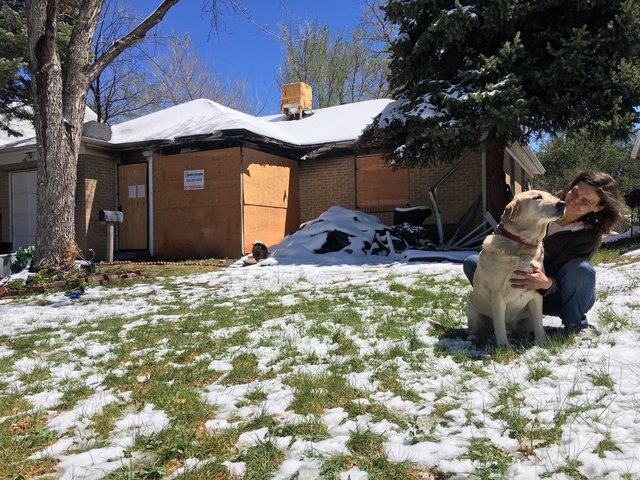 First fire- now snow adding to damaged home