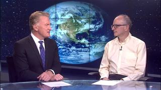 Climate change discussion with climate scientist