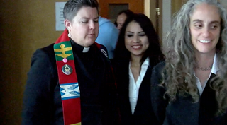 Immigrant living in church ventures to court