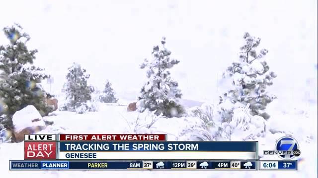 Slushy roads- school closures amid Colorado spring storm