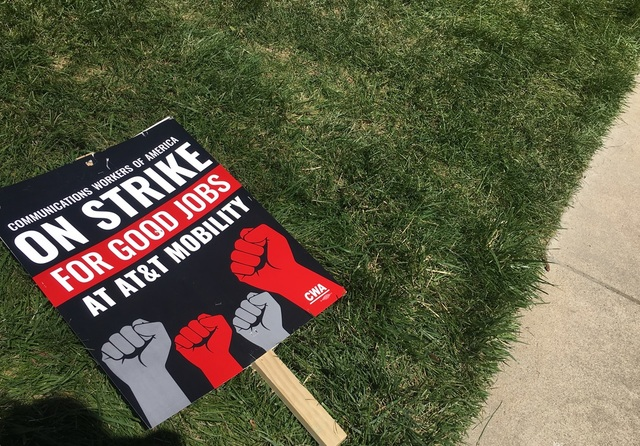 Local AT-T workers strike- demand fair contract