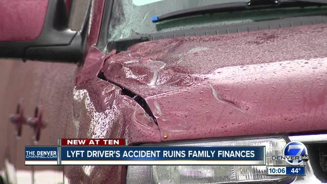 Colorado Lyft driver left holding bill after accident