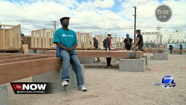 Construction underway on tiny home village to house homeless in RiNo