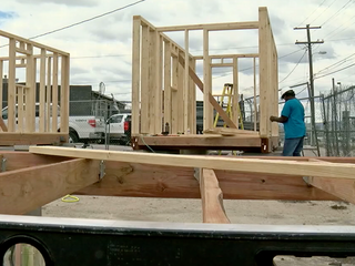Construction underway on tiny home village