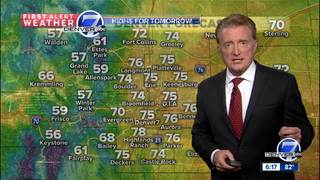 From 80s to 70s in Denver~next 24 hours