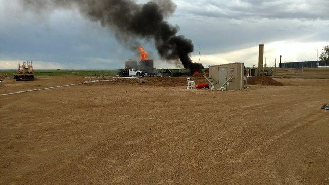 Worker killed in oil and gas tank fire