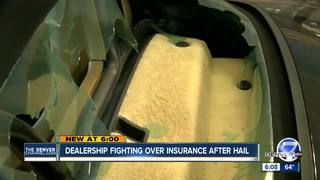 Business with hail damage fighting for a claim