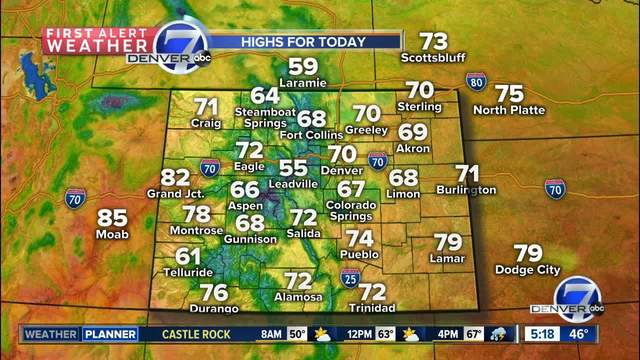 60s and 70s for Memorial Day