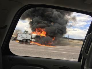 See photos from the fire, explosion on I-25