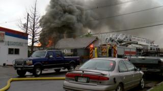 Brighton tire shop fire destroys 3 businesses