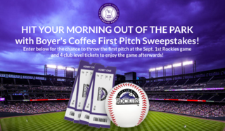 Win Rockies experience through Boyer's Coffee