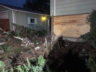 Suspected DUI driver crashes into house