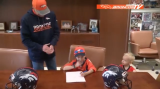 Broncos make 6-year-old's dream come true