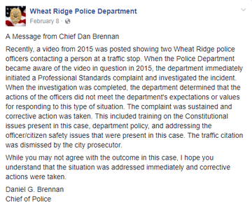 Lawsuit claims Wheat Ridge police arrested man after he recorded