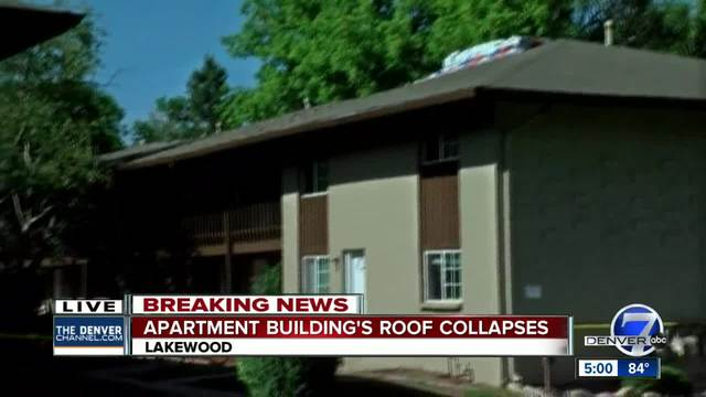 Apartment Building Roof apartment residents evacuated after roof collapse in lakewood