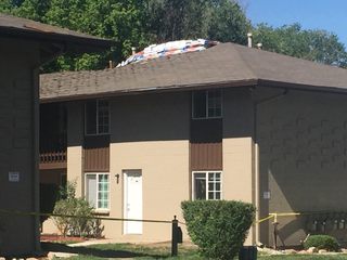 Red Cross provides shelter after roof collapse