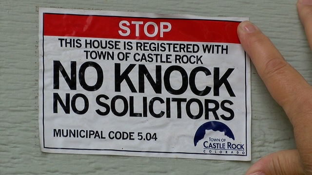 No knock- no soliciting signs allow homeowners to -opt out-