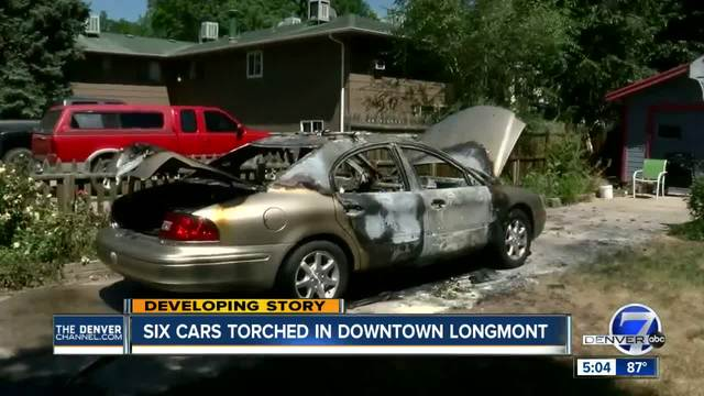 Six arsons reported within 90 minutes overnight in downtown Longmont