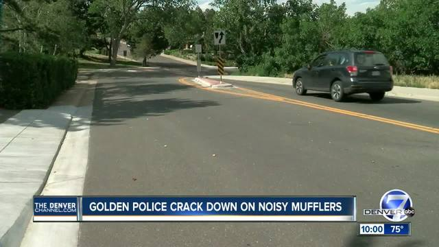 Golden police cracking down on noisy- modified mufflers