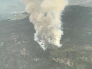 Gutzler Fire burning southwest of Kremmling