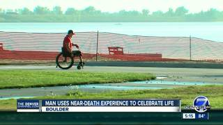 Man uses near-death experience to celebrate life