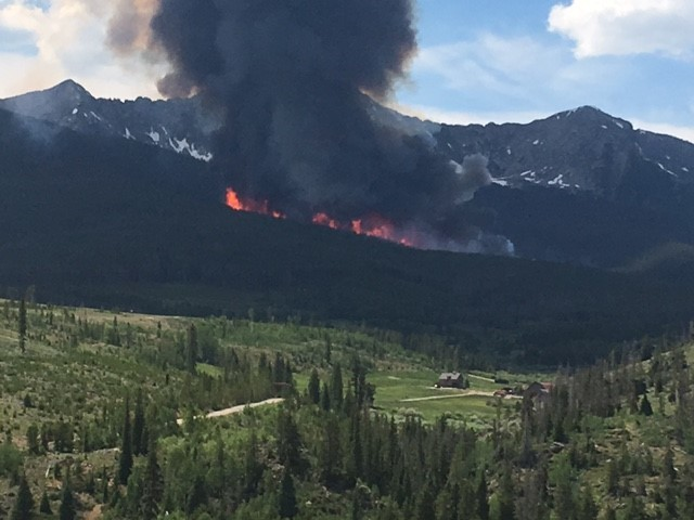 Breckenridge fire burns around 85 acres, no growth overnight