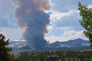 Photos: Peak 2 Fire burning in Breckenridge