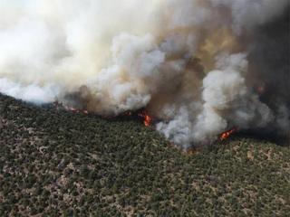Progress made on Peak 2 Fire, Guzler Fire