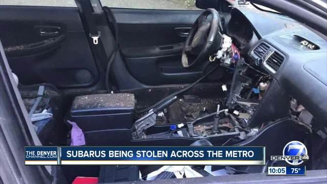Colorado Subaru club member Our cars are being stolen all over