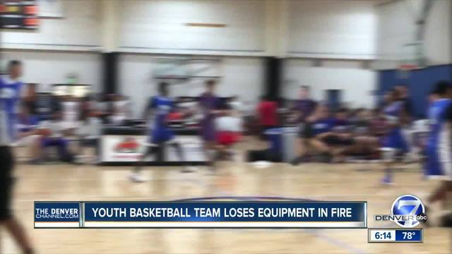 Youth basketball team loses sports equipment in a van fire while on way…