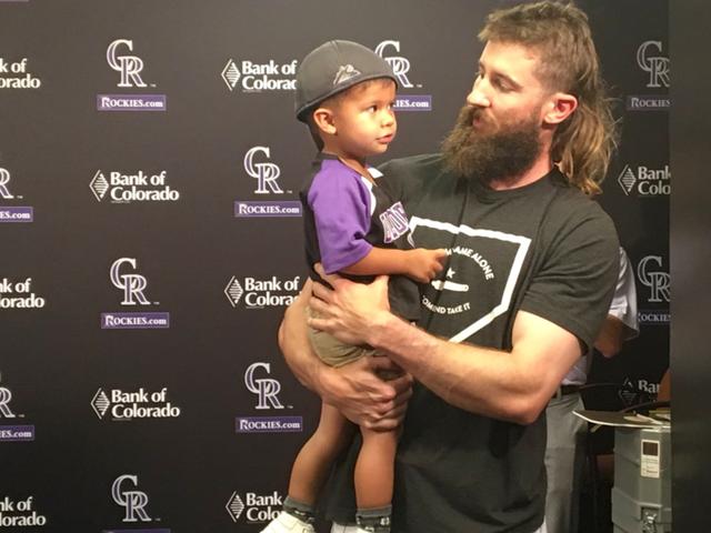 Charlie Blackmon meets 2-year-old superfan