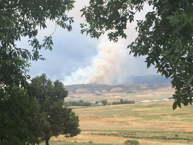 Wildfire breaks out in Larimer County south of Fort Collins