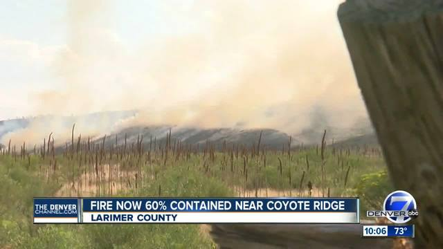 Spring Glade Fire burning between Fort Collins and Loveland