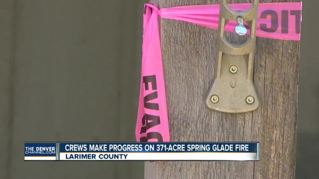 Spring Glade Fire- Crews make progress on 371-acre blaze burning in…