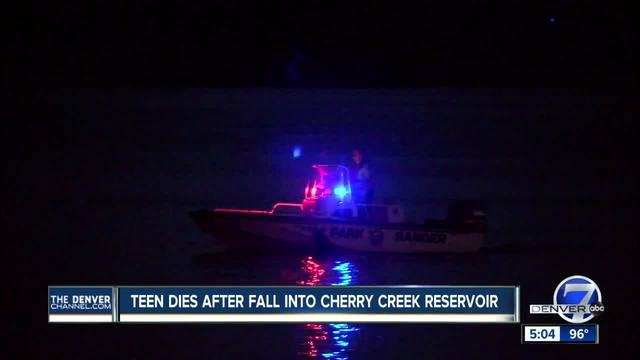 Teen who fell into Cherry Creek Reservoir Saturday identified- drowning…