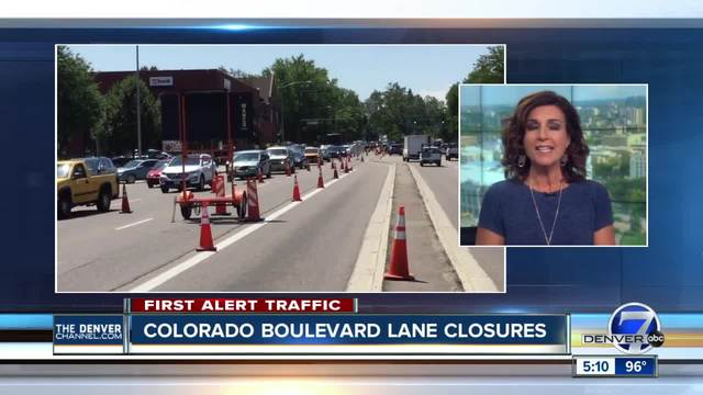 Daily closures on Colorado Blvd- scheduled for next couple weeks
