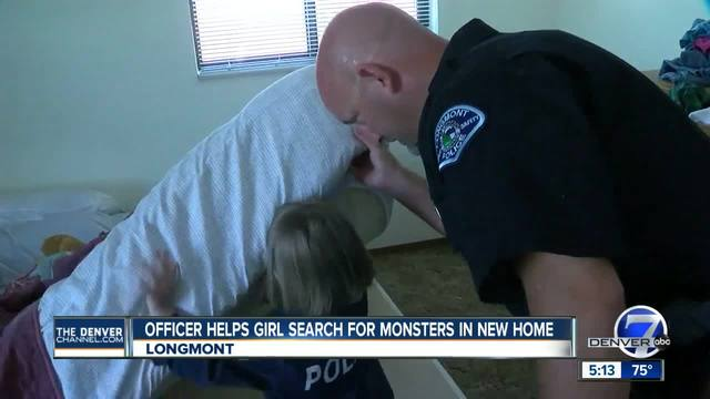 Police officer helps 4-year-old