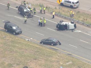 PHOTOS: EB I-70 crash at Morrison leaves 1 dead