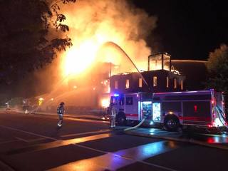 Historic Windsor Mill goes up in flames