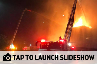Photos: Historic Windsor Mill goes up in flames