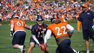 Broncos QBs get roughly 16 plays each in opener