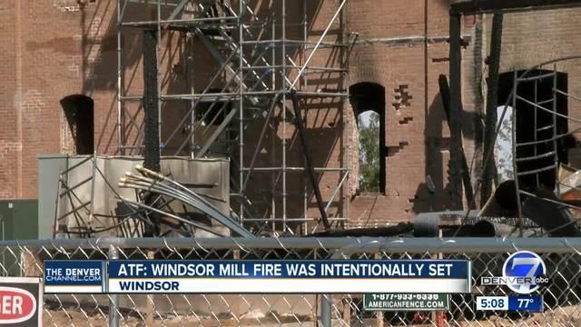 Windsor Mill fire intentionally set- officials offering -10-000 reward